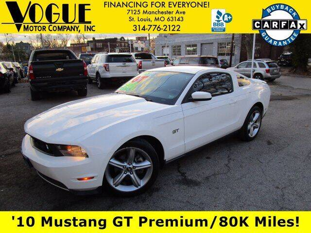 2010 Ford Mustang for sale at Vogue Motor Company Inc in Saint Louis MO