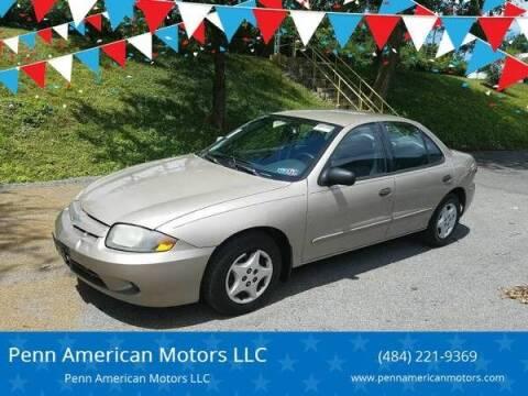 2004 Chevrolet Cavalier for sale at Penn American Motors LLC in Allentown PA