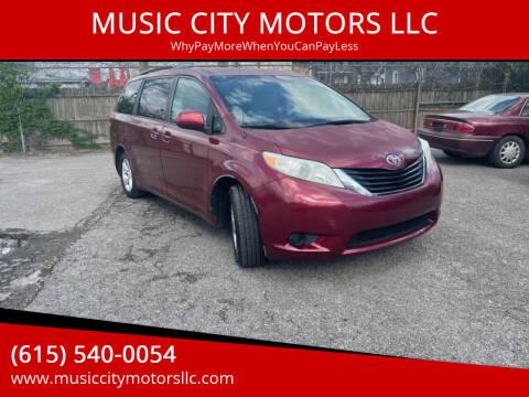 2011 Toyota Sienna for sale at MUSIC CITY MOTORS LLC in Nashville TN