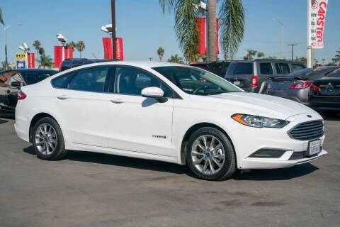 2017 Ford Fusion Hybrid for sale at CARSTER in Huntington Beach CA