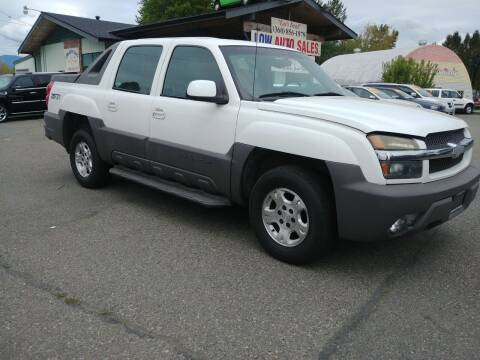 2002 Chevrolet Avalanche for sale at Low Auto Sales in Sedro Woolley WA
