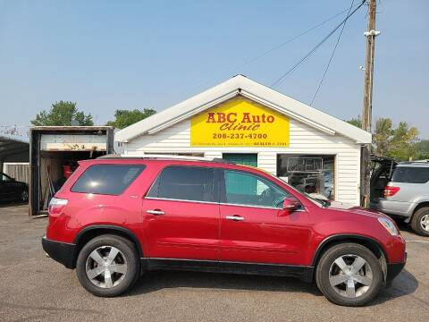 2012 GMC Acadia for sale at ABC AUTO CLINIC in Chubbuck ID