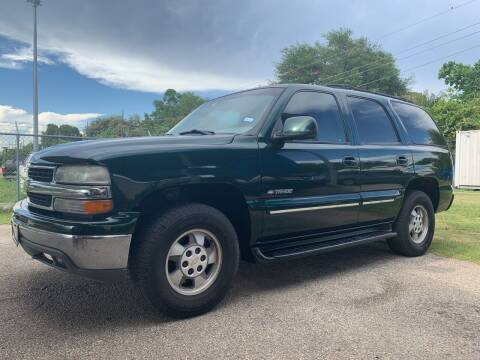2001 Chevrolet Tahoe for sale at P & A AUTO SALES in Houston TX