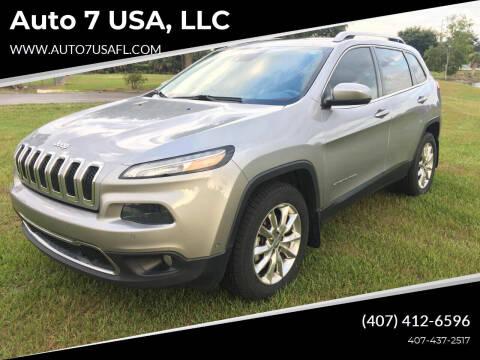 2014 Jeep Cherokee for sale at Auto 7 USA, LLC in Orlando FL
