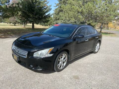 2012 Nissan Maxima for sale at BELOW BOOK AUTO SALES in Idaho Falls ID