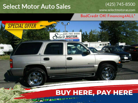 2002 Chevrolet Tahoe for sale at Select Motor Auto Sales in Lynnwood WA