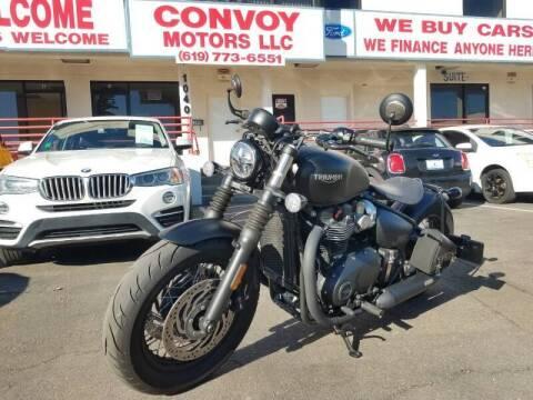 2018 Triumph Bonneville Bobber for sale at Convoy Motors LLC in National City CA