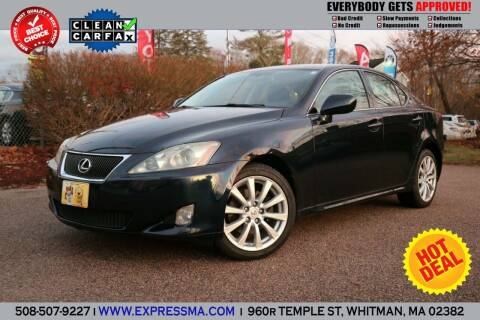 2006 Lexus IS 250 for sale at Auto Sales Express in Whitman MA
