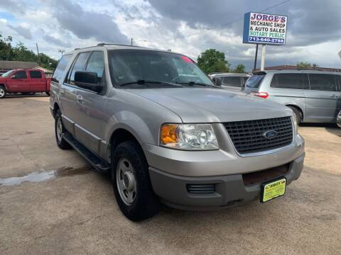 2003 Ford Expedition for sale at JORGE'S MECHANIC SHOP & AUTO SALES in Houston TX