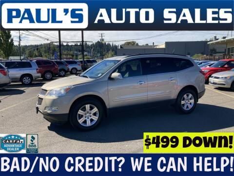 2012 Chevrolet Traverse for sale at Paul's Auto Sales in Eugene OR