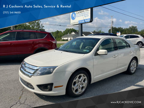 2010 Ford Fusion for sale at R J Cackovic Auto Sales, Service & Rental in Harrisburg PA