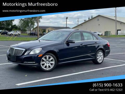 2013 Mercedes-Benz E-Class for sale at Motorkings Murfreesboro in Murfreesboro TN