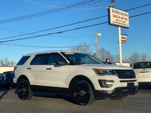 2016 Ford Explorer for sale at MetroWest Auto Sales in Worcester MA