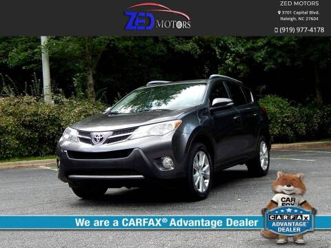 2013 Toyota RAV4 for sale at Zed Motors in Raleigh NC