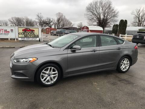 2013 Ford Fusion for sale at Cordova Motors in Lawrence KS