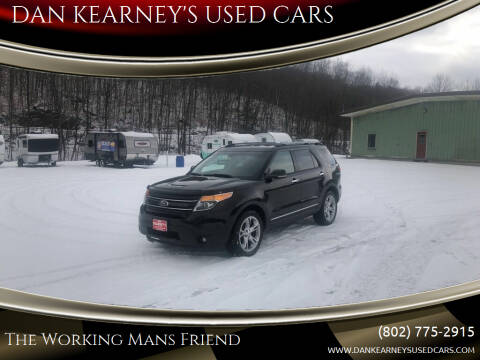2013 Ford Explorer for sale at DAN KEARNEY'S USED CARS in Center Rutland VT