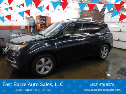 2011 Acura MDX for sale at East Barre Auto Sales, LLC in East Barre VT