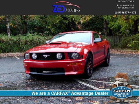 2008 Ford Mustang for sale at Zed Motors in Raleigh NC