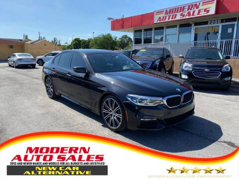 2017 BMW 5 Series for sale at Modern Auto Sales in Hollywood FL