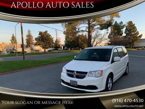 2012 Dodge Grand Caravan for sale at APOLLO AUTO SALES in Sacramento CA