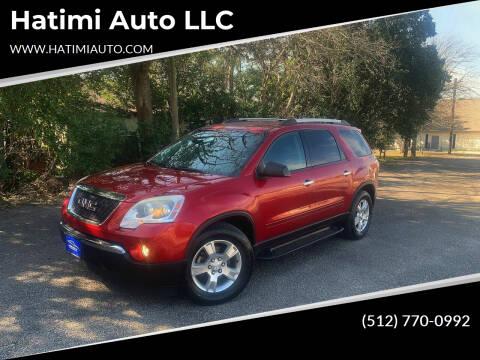 2012 GMC Acadia for sale at Hatimi Auto LLC in Buda TX
