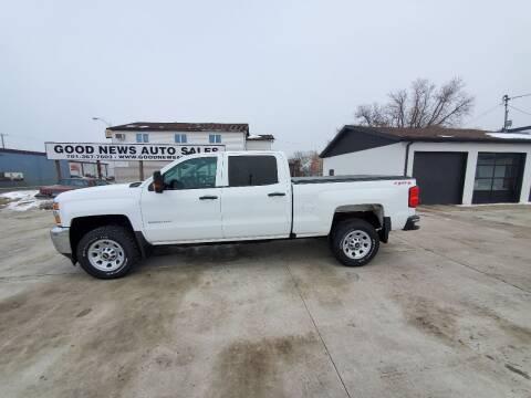 2016 Chevrolet Silverado 2500HD for sale at GOOD NEWS AUTO SALES in Fargo ND