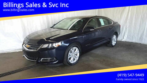 2018 Chevrolet Impala for sale at Billings Sales & Svc Inc in Clyde OH