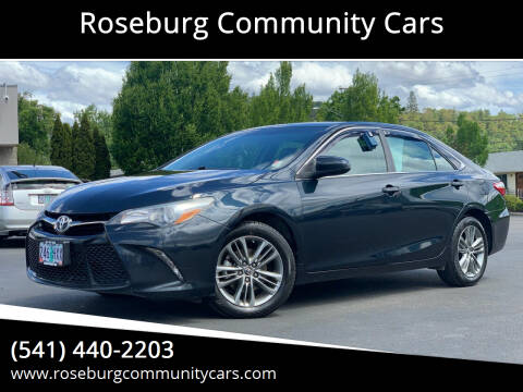 2016 Toyota Camry for sale at Roseburg Community Cars in Roseburg OR