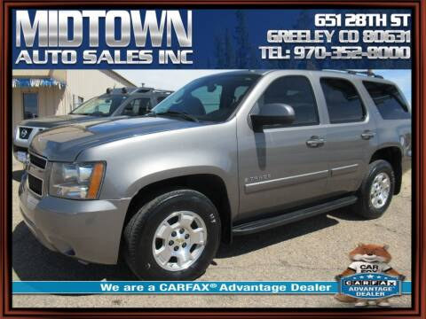 2007 Chevrolet Tahoe for sale at MIDTOWN AUTO SALES INC in Greeley CO