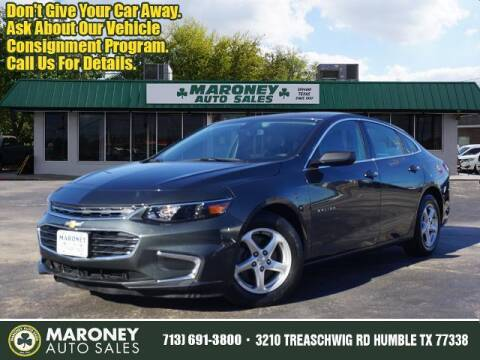 2018 Chevrolet Malibu for sale at Maroney Auto Sales in Humble TX