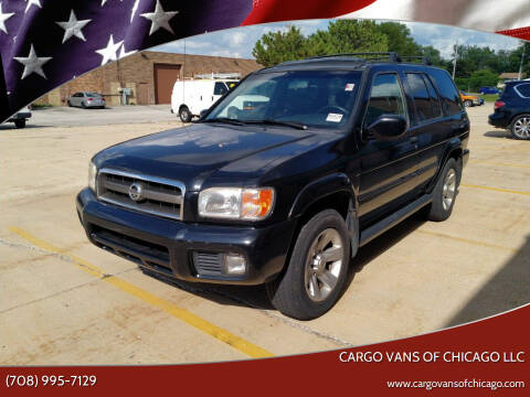 2002 Nissan Pathfinder for sale at Cargo Vans of Chicago LLC in Mokena IL