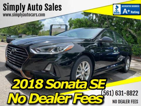 2018 Hyundai Sonata for sale at Simply Auto Sales in Palm Beach Gardens FL
