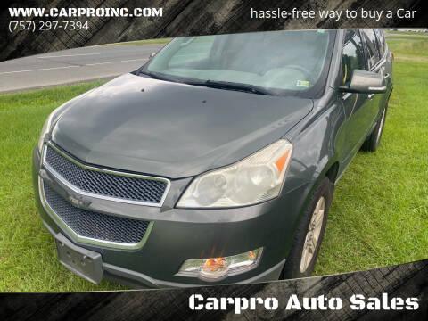 2011 Chevrolet Traverse for sale at Carpro Auto Sales in Chesapeake VA