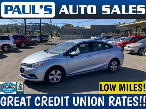 2018 Chevrolet Cruze for sale at Paul's Auto Sales in Eugene OR