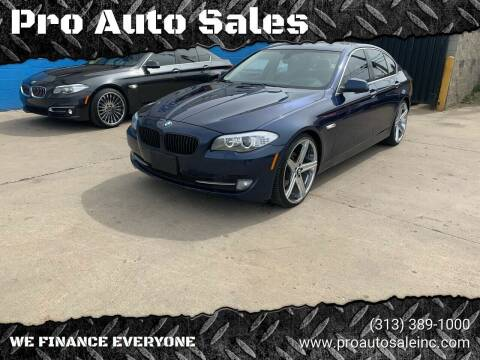 2013 BMW 5 Series for sale at Pro Auto Sales in Lincoln Park MI