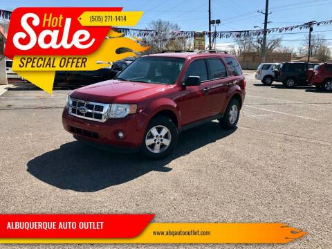 2010 Ford Escape for sale at ALBUQUERQUE AUTO OUTLET in Albuquerque NM