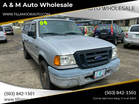 2004 Ford Ranger for sale at A & M Auto Wholesale in Tillamook OR