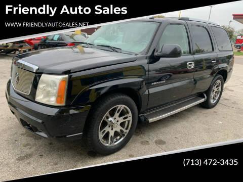 2005 Cadillac Escalade for sale at Friendly Auto Sales in Pasadena TX