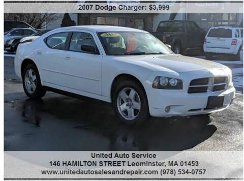 2007 Dodge Charger for sale at United Auto Service in Leominster MA