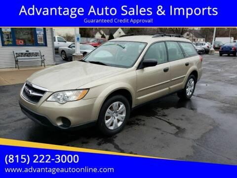 2008 Subaru Outback for sale at Advantage Auto Sales & Imports Inc in Loves Park IL