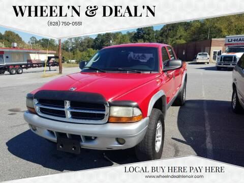 2002 Dodge Dakota for sale at Wheel'n & Deal'n in Lenoir NC