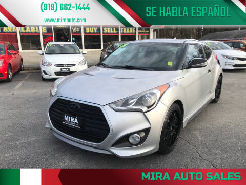 2013 Hyundai Veloster for sale at Mira Auto Sales in Raleigh NC