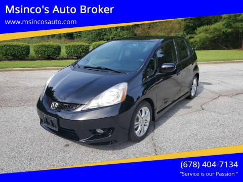 2009 Honda Fit for sale at Msinco's Auto Broker in Snellville GA