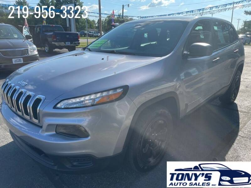 2015 Jeep Cherokee for sale at Tonys Auto Sales Inc in Wheatfield IN