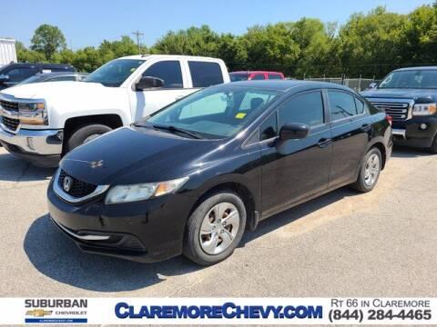 2014 Honda Civic for sale at Suburban Chevrolet in Claremore OK