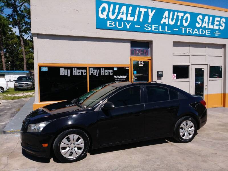 2014 Chevrolet Cruze for sale at QUALITY AUTO SALES OF FLORIDA in New Port Richey FL