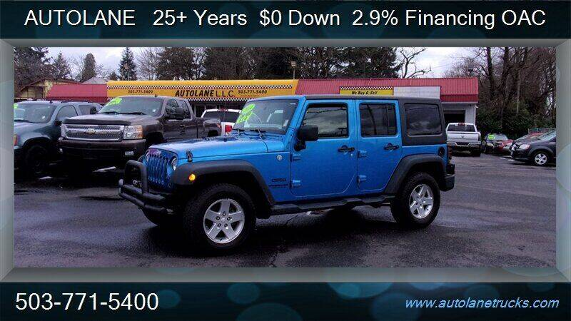 2014 Jeep Wrangler Unlimited for sale at Auto Lane in Portland OR