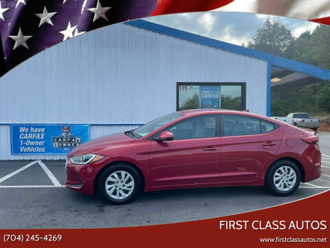 2017 Hyundai Elantra for sale at First Class Autos in Maiden NC