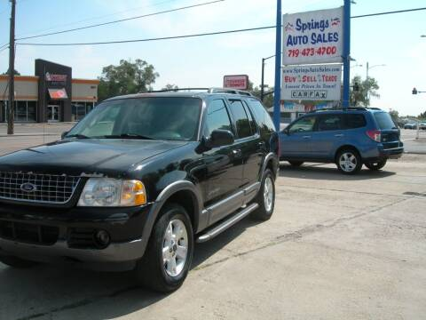 2004 Ford Explorer for sale at Springs Auto Sales in Colorado Springs CO