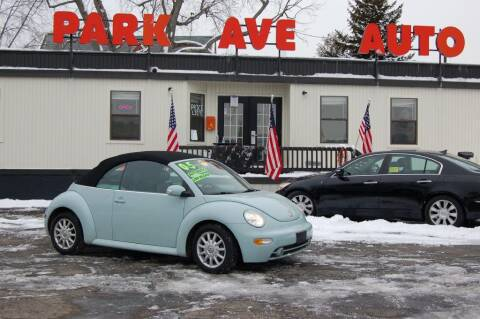 2005 Volkswagen New Beetle Convertible for sale at Park Ave Auto Inc. in Worcester MA
